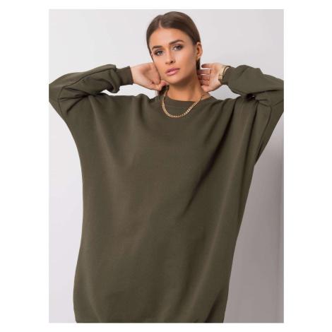 Khaki oversize sweatshirt dress