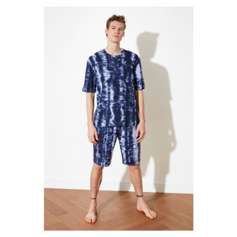 Trendyol Indigo Batik Knitted Pyjama Set