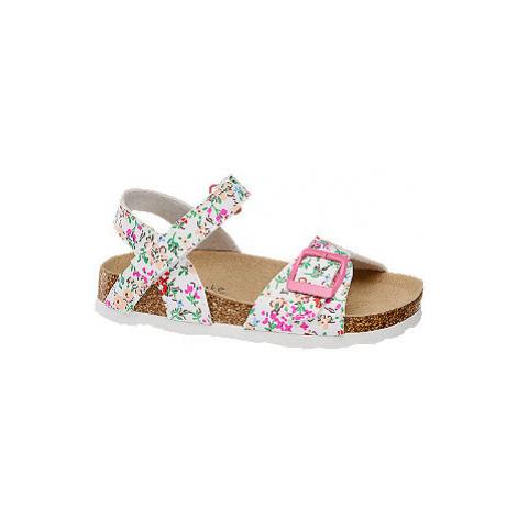Biele sandáliky Cupcake Couture s kvetinovým vzorom
