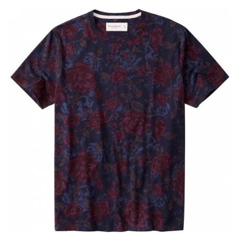 Abercrombie & Fitch Tričko  námornícka modrá / červená