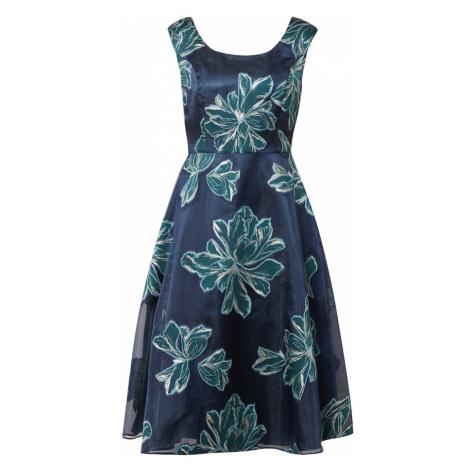 Vera Mont Kokteilové šaty  zelená / tmavomodrá / strieborná / mätová