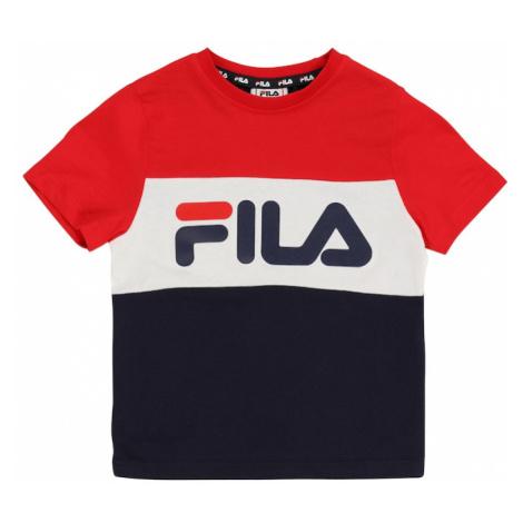 FILA Tričko 'THEA'  biela / červená / tmavomodrá