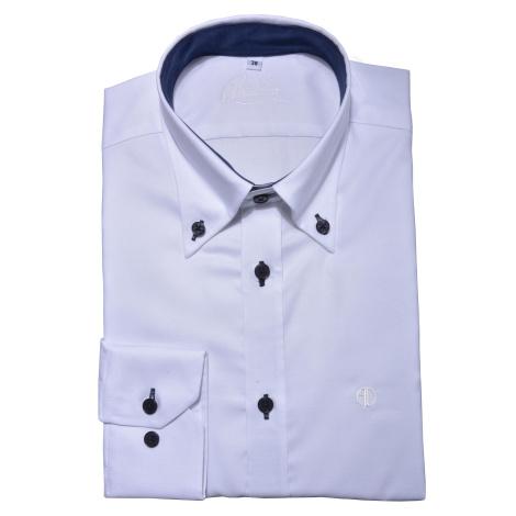 Biela voľnočasová Extra Slim Fit košeľa Alain Delon