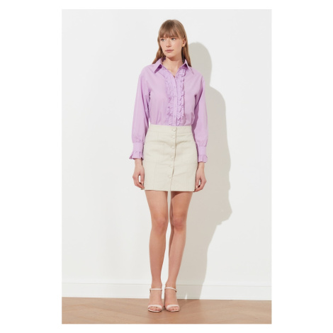 Trendyol Stone Button Detailed Skirt