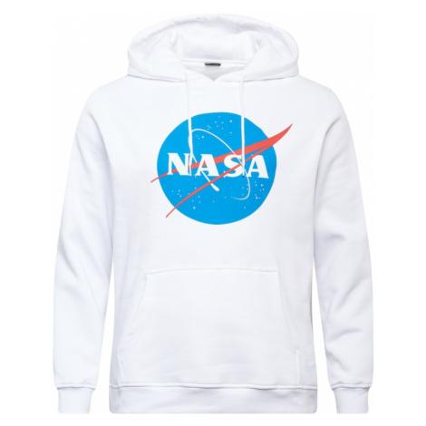 Mister Tee Plus Size Mikina 'NASA'  šedobiela / modrá / pastelovo červená