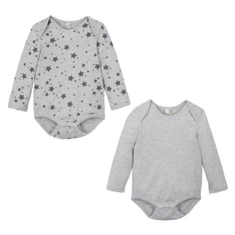 Detské tričko s dlhým rukávom (2 ks) bio bavlna
