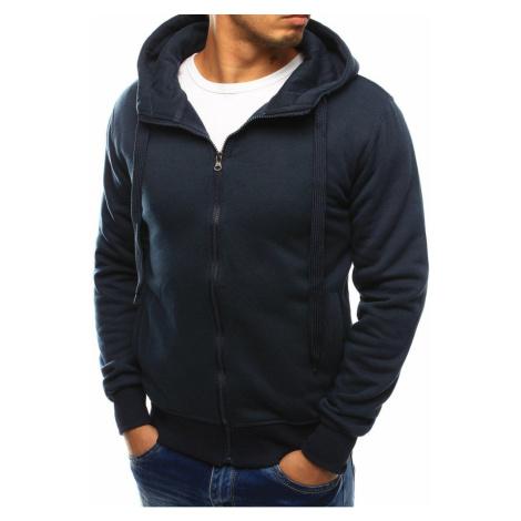Navy blue men's zip up hoodie DStreet