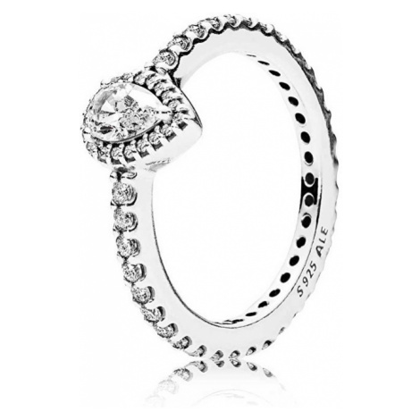 Pandora Trblietavý strieborný prsteň 196254CZ mm