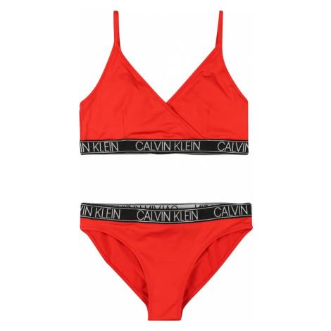 Calvin Klein Swimwear Bikiny  červená