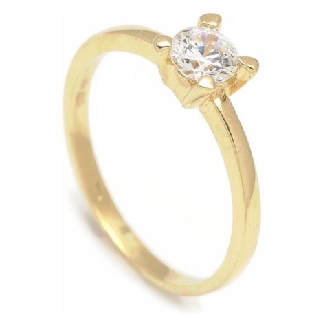 Zlatý zásnubný prsteň DAISY