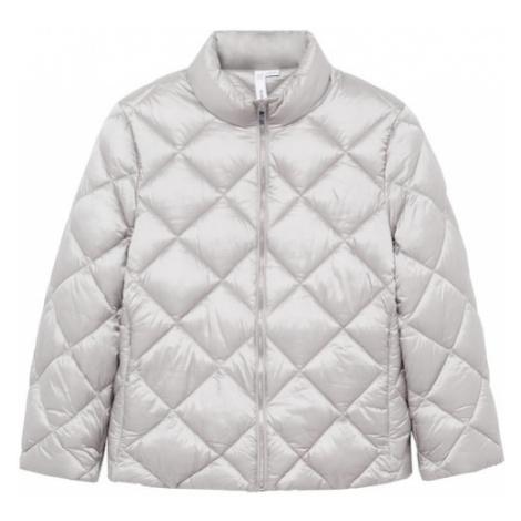 MANGO Prechodná bunda 'Blandico'  svetlosivá