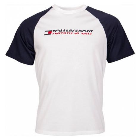 Tommy Hilfiger LOGO TEE WITH TAPE biela - Pánske tričko