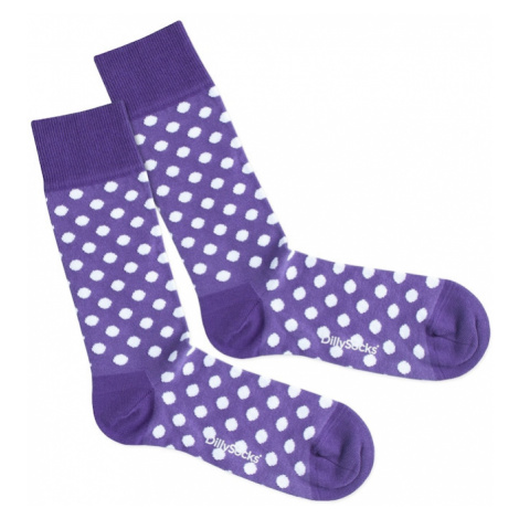 DillySocks Ponožky 'Purple Dots'  fialová / biela
