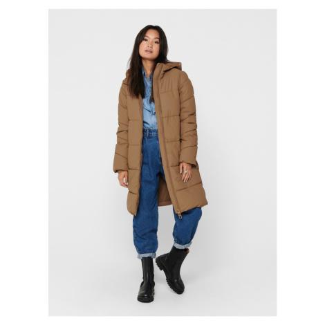 Béžový zimný kabát ONLY Sienna
