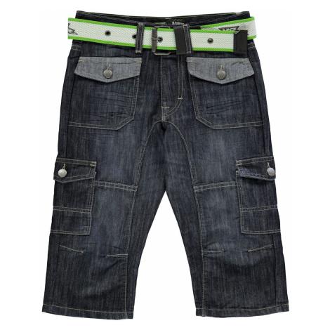 No Fear Belted Cargo Below The Knee Denim Shorts Junior Boys