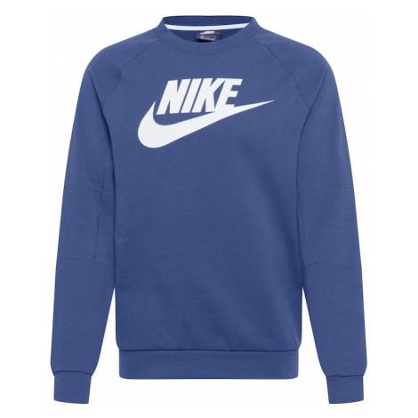 Nike Sportswear Mikina  biela / námornícka modrá