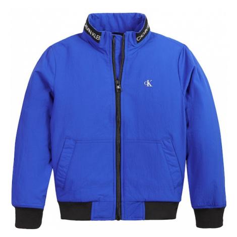 Calvin Klein Jeans Prechodná bunda  kráľovská modrá / čierna