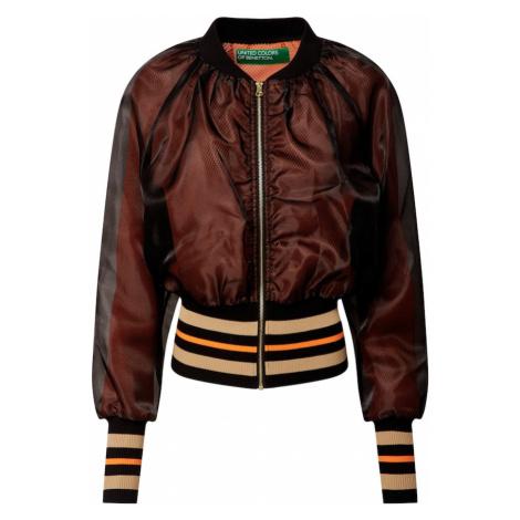 UNITED COLORS OF BENETTON Prechodná bunda  tmavooranžová / oranžová / čierna / telová