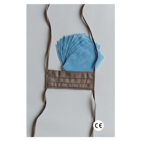 NANO MED.CLEAN Rouška skládaná + 10x NANO MED.CLEAN  filtr - barva:B11/hnedá Triola