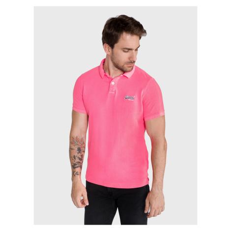 Polo triko SuperDry Růžová