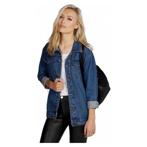Oversized džínsová bunda Jodie Boohoo