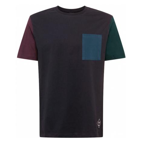 Iriedaily Tričko  čierna / vínovo červená / zelená / petrolejová