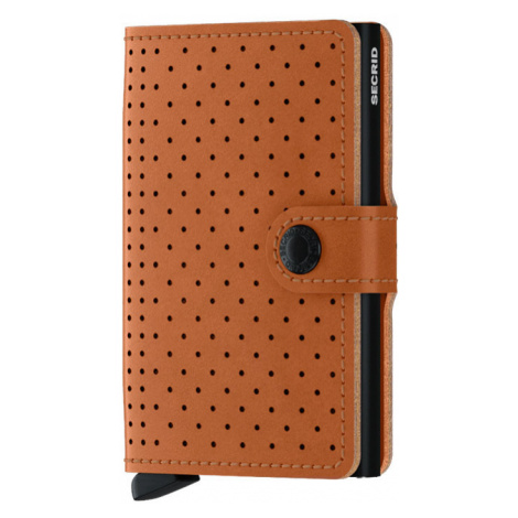 Secrid Miniwallet Perforated Cognac-One size hnedé MPf-cognac-One size