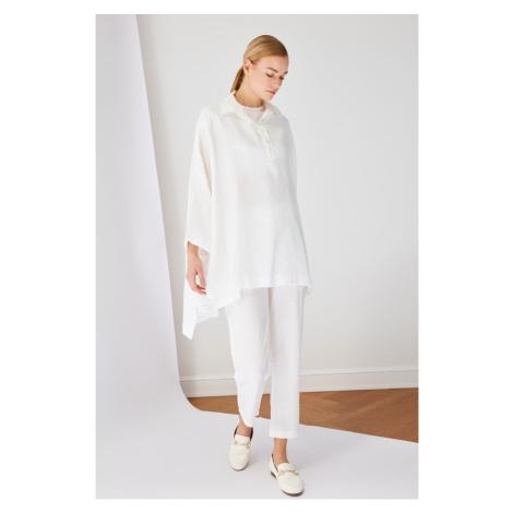 Trendyol White Shirt Tunic Bottom-Top Team