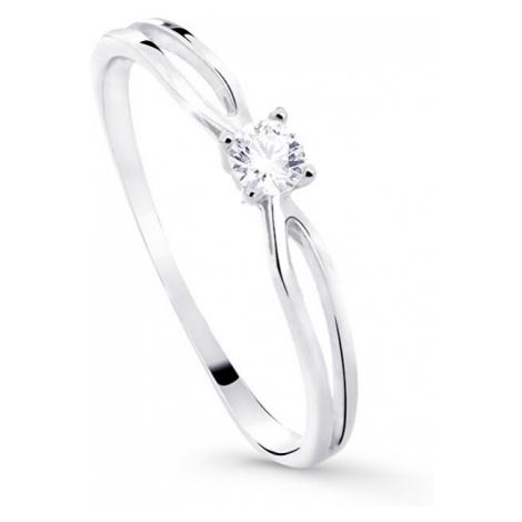 Cutie Diamonds Trblietavý zásnubný prsteň z bieleho zlata s briliantom DZ8027-00-X-2 mm Cutie Jewellery