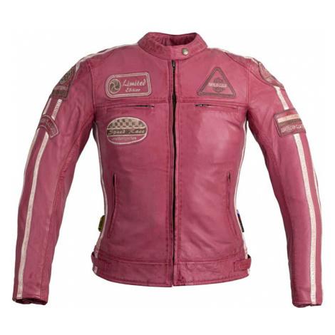 Dámska kožená moto bunda W-TEC Sheawen Lady Pink Farba ružová
