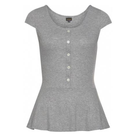 LASCANA Tričko  sivá melírovaná