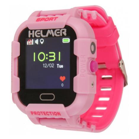 Helmer Chytré dotykové hodinky s GPS lokátorem a fotoaparátem - LK růžové - SLEVA
