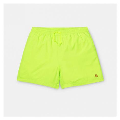 Carhartt Wip Chase Swim Trunks I026235 LIME/GOLD