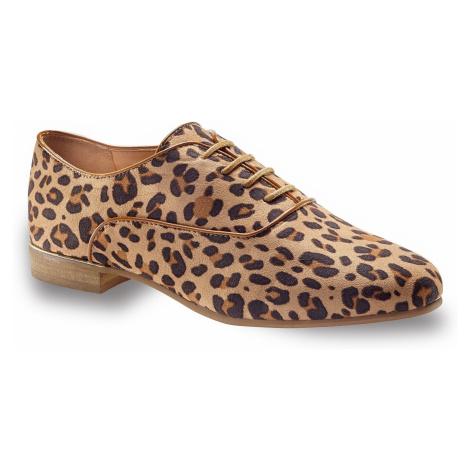 Blancheporte Derbies s leopardím vzorom béžová/čierna