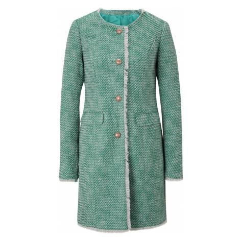heine Prechodný kabát  zelená / biela