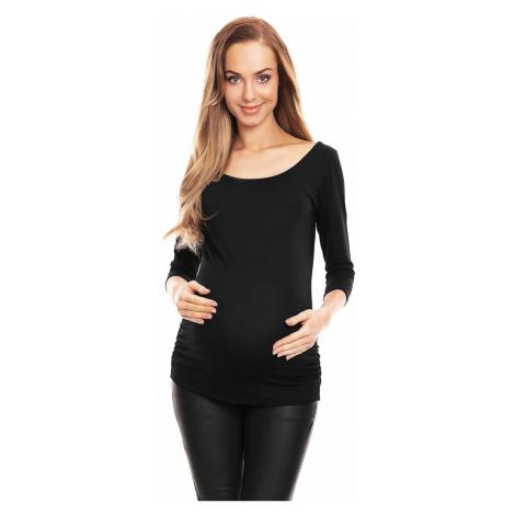 Čierny tehotenský top 0142 PeeKaBoo