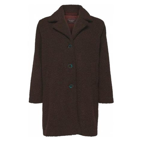 SELECTED FEMME Zimný kabát  tmavohnedá