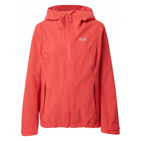 JACK WOLFSKIN Outdoorová bunda 'JWP Shell'  červená / čierna / neónovo žltá