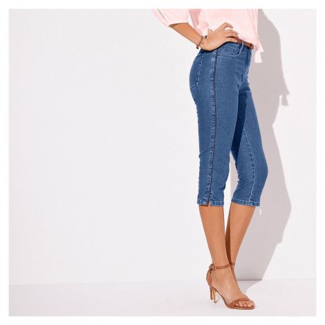 Blancheporte Predlžujúce korzárske nohavice zapratá modrá