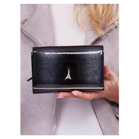 Women´s black patent leather wallet