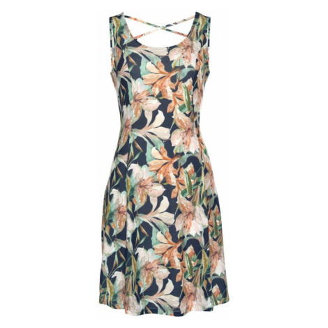 LASCANA Plážové šaty  námornícka modrá / pastelovo zelená / ružová