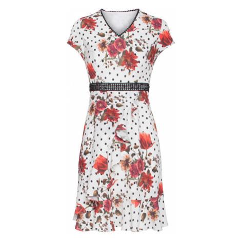 Smashed Lemon Dámske šaty Black White/Red