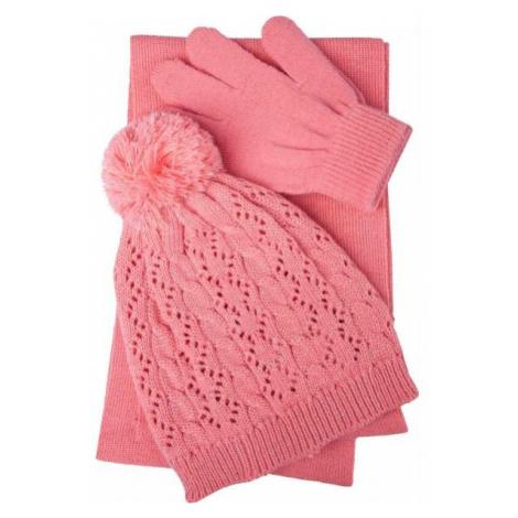 Lewro PIPA ružová - Dievčenský pletený set