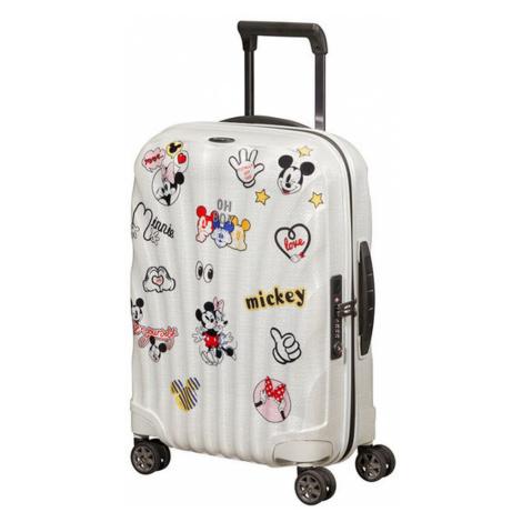 Samsonite Kabínový cestovný kufor C-lite Disney Spinner 36 l - bílá