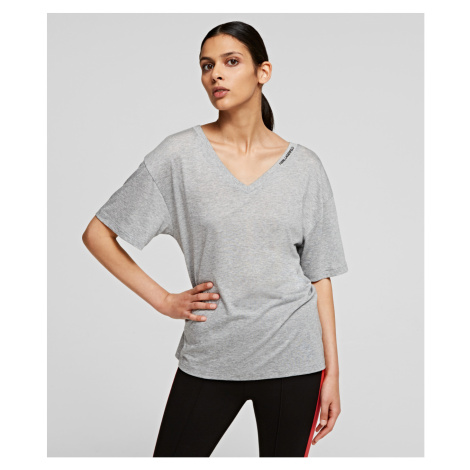 Tričko Karl Lagerfeld Double V Neck T-Shirt
