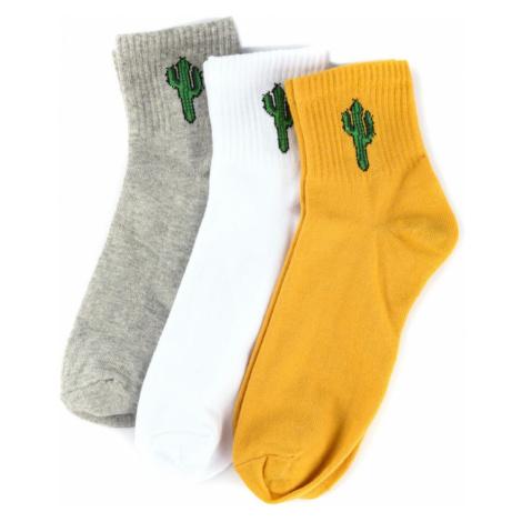 Trendyol Multi-Coloured Men's 3-Pack Cactus Printed Booty Socks