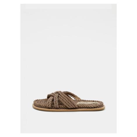 Brown slippers VERO MODA Dea