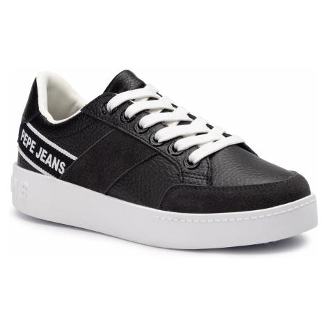 Sneakersy PEPE JEANS - Brixton Tape PLS30891 Black 999