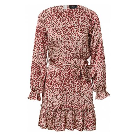 AX Paris Šaty  červená / biela