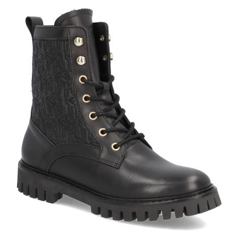 Tommy Hilfiger TH Monogram Lace Up Boot čierna